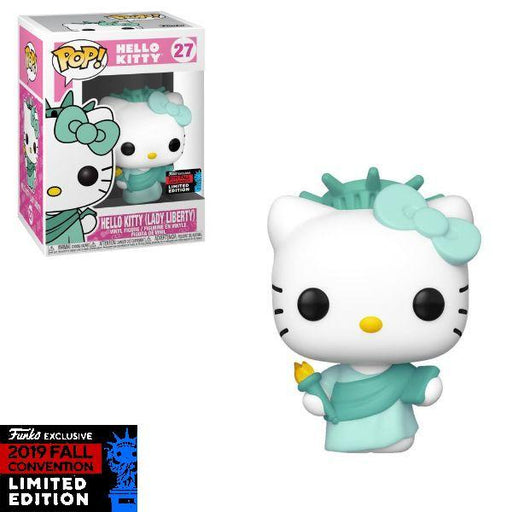 Funko Pop 2019 NYCC New York Comic Con Exclusive : Hello Kitty (Lady Liberty) Vinyl Figure #27