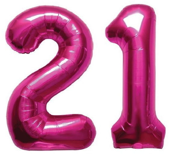 "Giant 34"" Mylar Hot Pink Foil Number Balloons **HELIUM/AIR ARE NOT INCLUDED**"