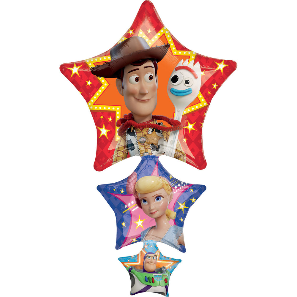 "Disney Toy Story 4 Jumbo 42"" inch SuperShape Foil Mylar Balloon HELIUM NOT INCLUDED"