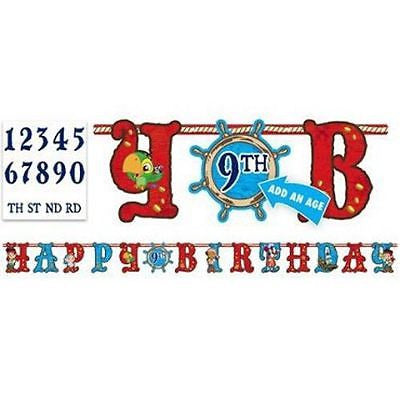 Disney Jake Neverland Pirates Add an Age Happy Birthday Jumbo Letter Banner Kit