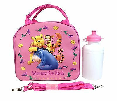 Disney Winnie The Pooh Shoulder Strap Light Pink Insulated Lunch Box School Bag