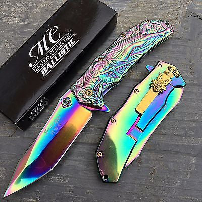 Master Collection Ballistic Rainbow Ti Shogun Samurai Collector's Pocket Knife