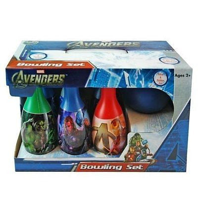 Marvel Avengers Bowling Set Toy Game Kids Birthday Gift Toy 6 Pins &1 Ball