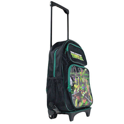 "Teenage Mutant Ninja Turtle Black 16"" Back to School Rolling Backpack Bag!"