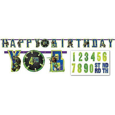 Nickelodeon Ninja Turtle Add an Age Happy Birthday Jumbo Letter Banner Kit
