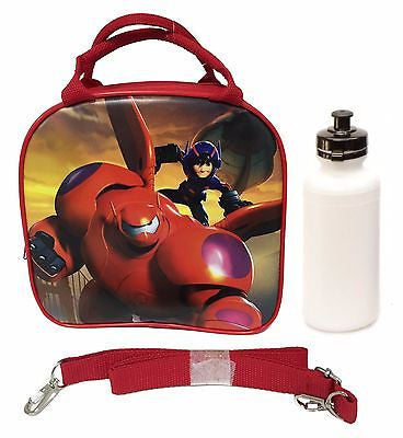 Disney Big Hero 6 Shoulder Strap Red Insulated Lunch Box School Bag