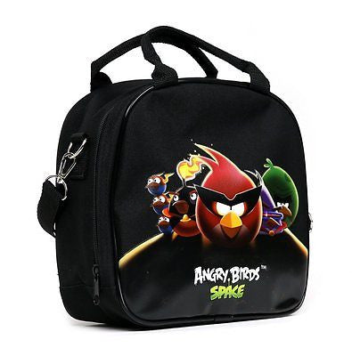 Rovio Angry Bird Shoulder Strap Black Insulated Lunch School Bag