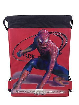 MARVELS SPIDERMAN RED DRAWSTRING STRING BACKPACK SCHOOL SPORT GYM TOTE BAG