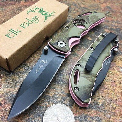 Elk Ridge Small Folding Custom Design Fall Camo Gentleman's Pocket Knife