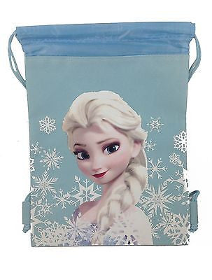Disney Frozen Elsa Baby Blue Children's Tote Drawstring Backpack
