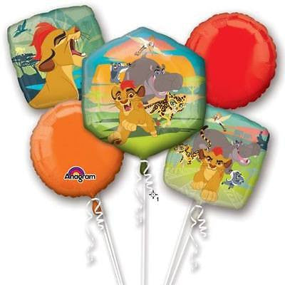 Disney Lion Guard Happy Birthday Party Favor 5CT Foil Balloon Bouquet