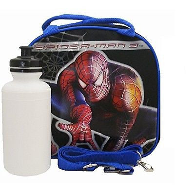 Marvel Spiderm-man Shoulder Strap Black/Blue Insulated Lunch Box School Bag