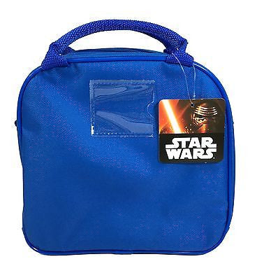 Star Wars BB8 Blue Lunch Box Lunch Bag and Adjustable Strap Insulated for Kids