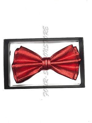 Red Metallic Bow Tie