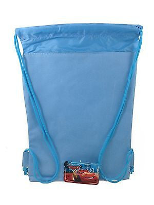DISNEY CARS MC QUEEN BABY BLUE DRAWSTRING STRING BACKPACK SCHOOL SPORT GYM BAG