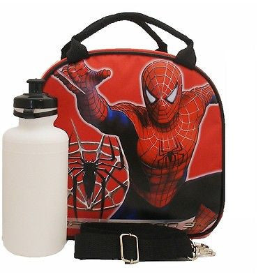 Marvel Spiderm-man Shoulder Strap Red Insulated Lunch Box School Bag