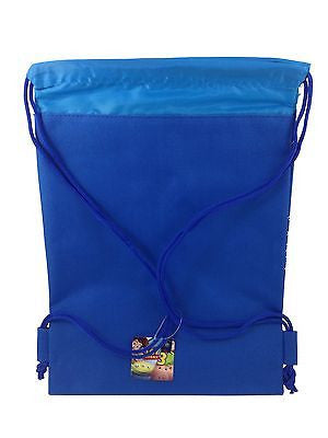 DISNEY TOY STORY BLUE DRAWSTRING STRING BACKPACK SCHOOL SPORT GYM TOTE BAG