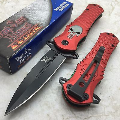 Dark Side Blades Red Punisher Fantasy Tactical Folding Rescue Pocket Knife