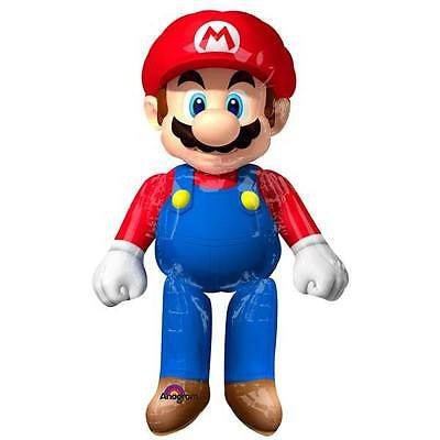 "Super Mario Airwalker 60"" Tall Birthday Party Jumbo Balloon"