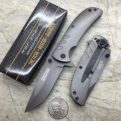 Tac Force Assisted Open Grey Ti-Coating Stainless Small Hunting Camping Pocket