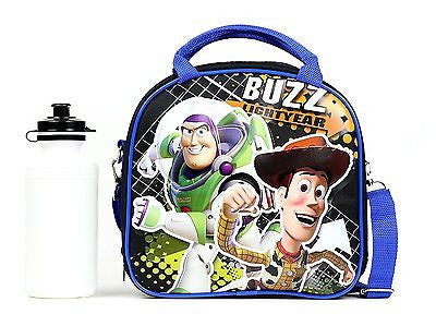 Disney Toy Story Shoulder Strap Black Insulated Lunch Box School Bag