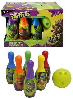 Ninja Turtle Bowling Set Toy Game Kids Birthday Gift Toy 6 Pins &1 Ball