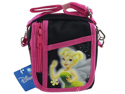 Disney Tinkerbell Black Camera Messenger Cross Shoulder Bag Coin Purse