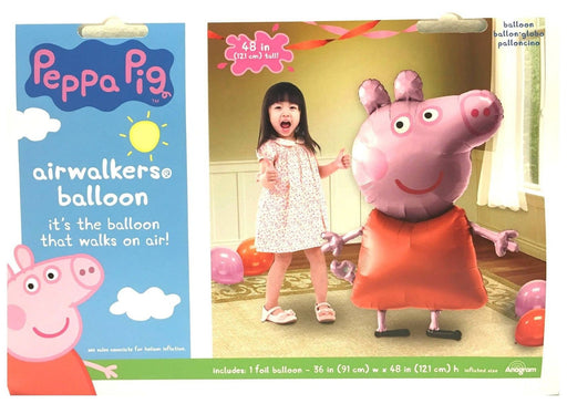 "PEPPA PIG 48"" 3D JUMBO AIRWALKER PARTY FOIL BALLOON PARTY SUPPLIES"