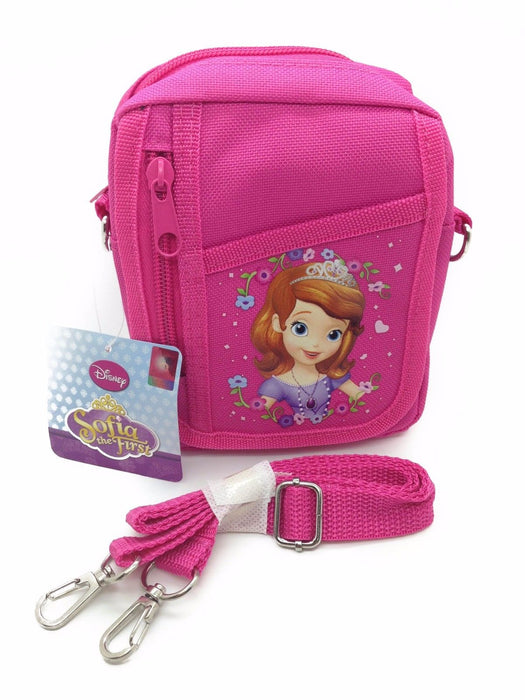 Disney Sofia The First Pink Camera Pouch Bag Wallet Purse with Shoulder Strap'