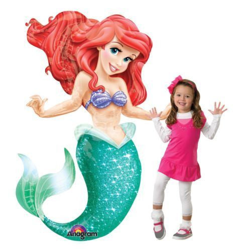 "Little Mermaid Princess Ariel  3D Airwalker 53"" Jumbo Party Foil Balloon"