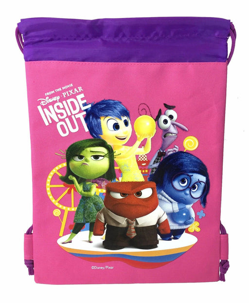 Disney Inside Out The Movie Drawstring Backpack School Pink Sport Gym Bag