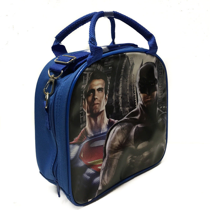 Batman vs Superman Blue Lunch Box Lunch Bag and Adjustable Strap Insulated