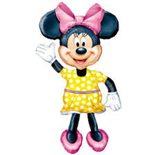 "Giant Minnie Mouse 3D Airwalker 54"" Jumbo Foil Balloon Party Supplies Home Decor HELIUM NOT INCLUDED"