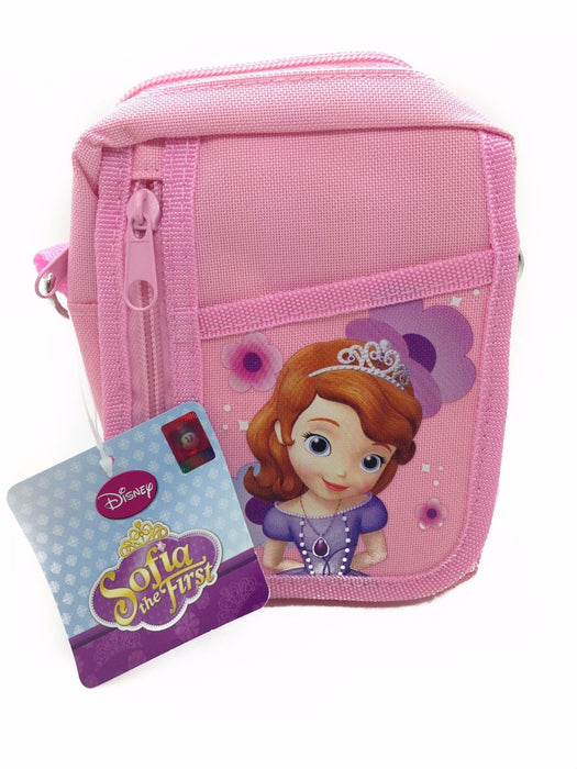 Disney Sofia The First Pink Camera Pouch Bag Wallet Purse with Shoulder Strap