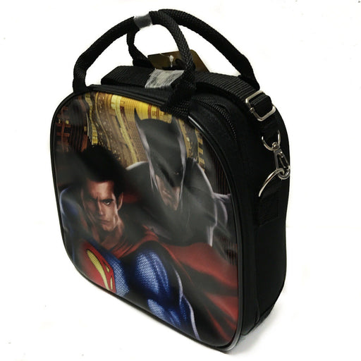 DC Comics Batman VS Superman Insulated Lunch Bag w/ Water Bottle (Black)