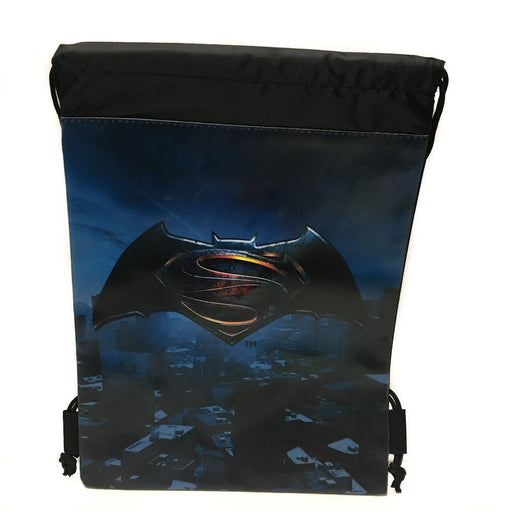 DC Comics Batman vs Superman Logo Drawstring backpack Sport Gym Bag for Kids