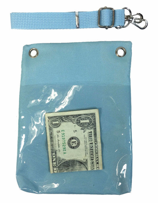 Disney Frozen Blue Elsa Anna Wallet Camera Pouch Bag Purse Shoulder Strap 7.5""