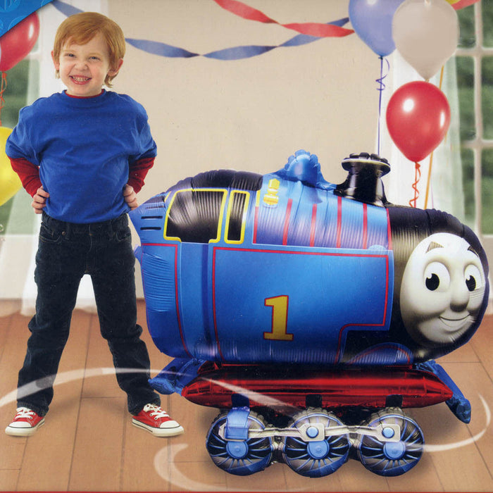 "Thomas The Train  3D Airwalker 31"" Jumbo Party Foil Balloon Party Supplies HELIUM NOT INCLUDED"