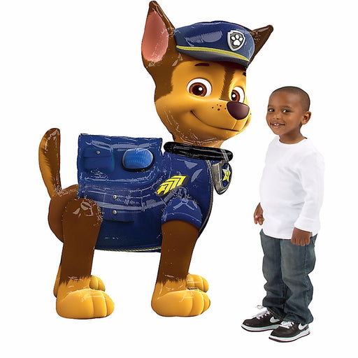 "Paw Patrol Chase Airwalker 54""Jumbo Foil Balloon Birthday Party Supplies Decor"