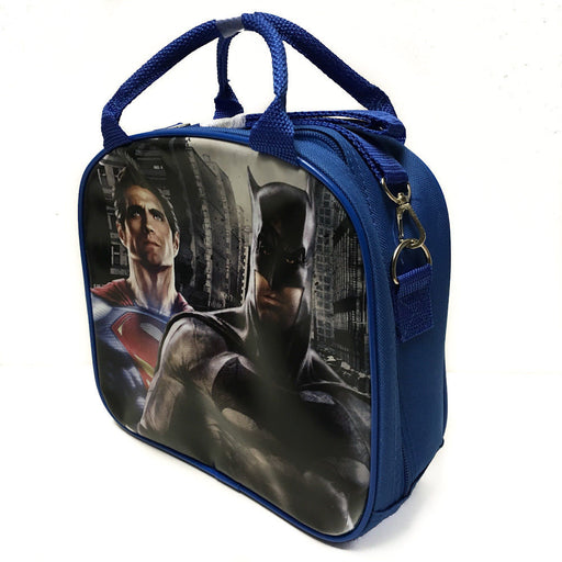 DC Comics Batman VS Superman Insulated Lunch Bag w/ Water Bottle (Blue)