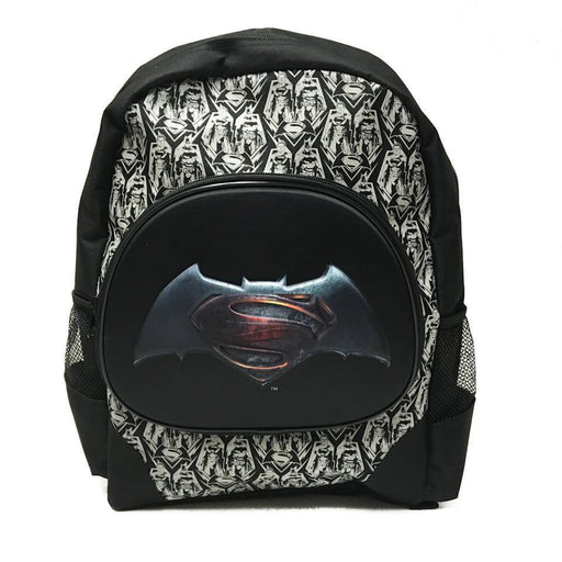 "DC Comis Batman vs Superman 16"" Large Black Backpack School Book Bag"