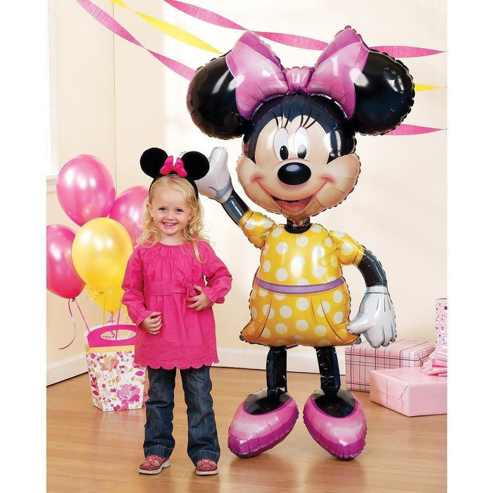 "Giant Minnie Mouse 3D Airwalker 54"" Jumbo Foil Balloon Party Supplies Home Decor"