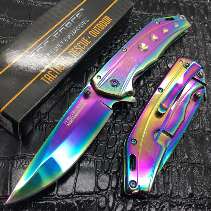 Tac Force All Rainbow Speedster Model Spring Assisted Gentlemen Pocket Knife