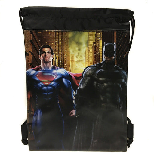 DC Comics Batman vs Superman Drawstring backpack Sport Gym Bag for Kids