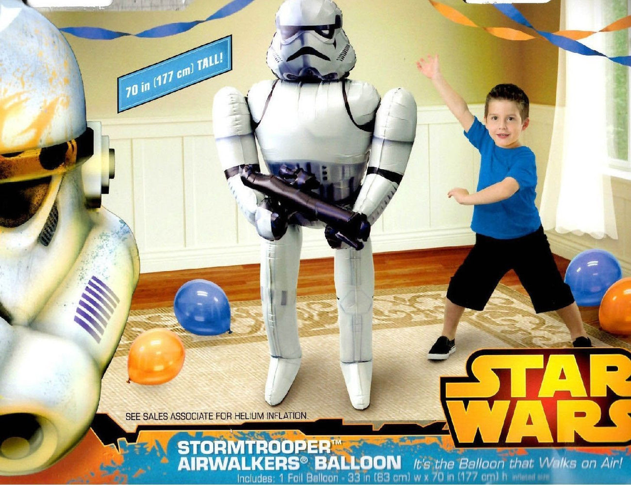 "Star Wars Stormtrooper Airwalker 70"" in Birthday Jumbo Foil Balloon Favor Decor"