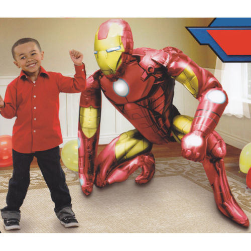 "Iron Man Avengers Airwalker 46"" in 3D Birthday Jumbo Foil Balloon Party Supplies"