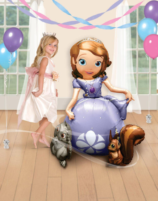 "Gaint Princess Sofia The First 3D Airwalker 54"" Jumbo Foil Balloon Party Supplie HELIUM NOT INCLUDED"