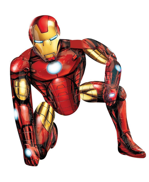 "Iron Man Avengers Airwalker 46"" in 3D Birthday Jumbo Foil Balloon Party Supplies HELIUM NOT INCLUDED"