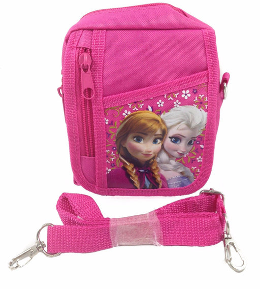 Disney Frozen Pink Elsa Wallet Camera Pouch Bag Purse with Shoulder Strap
