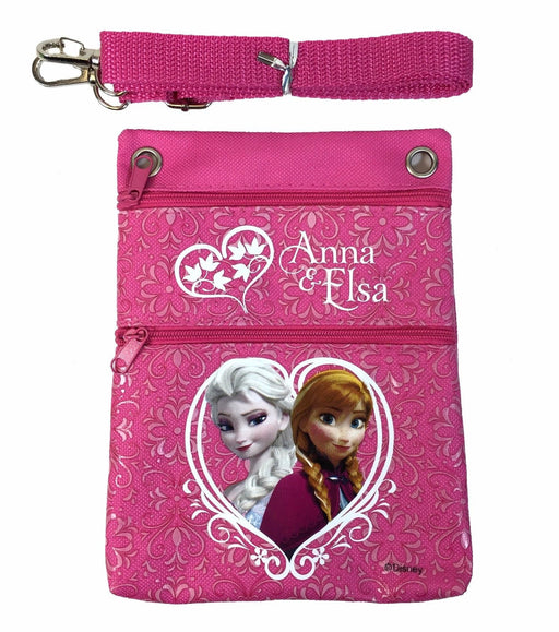 Disney Frozen Pink Elsa Anna Wallet Camera Pouch Bag Purse Shoulder Strap 7.5""